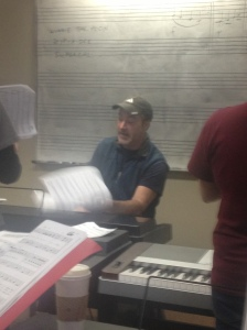 David Paul Mesler breaks out the sheet music during group piano/Priscilla Truong