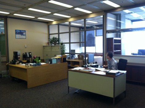 Humanities Office. Photograph by Josh Kelety.