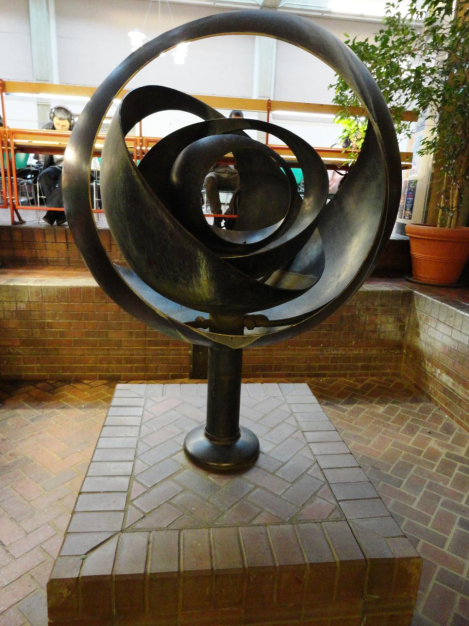 Look Familiar? This is the Tsutakawa Fountain which resides in SCCC's Atrium, positioned directly in front of Registration and Financial Aid Offices. Photo by: Tina Young
